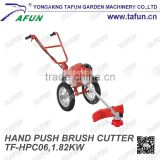 hand push china and high quality green grass rotary trimmer with multi function