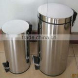 stainless steel foot operated trash bin