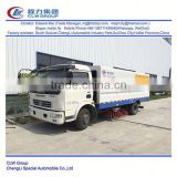 Dongfeng 4*2 type 120hp 6 ton manual road sweeper