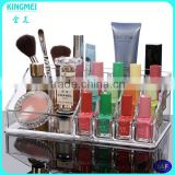 Makeup brushes manufacturers china & acrylic makeup box & organic glass nail polish display