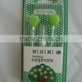 cartoon earphones Headphones 3.5MM BASS MP4 MP3 9earphone