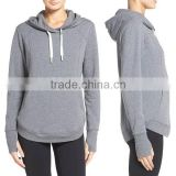 female hoodies Blank cheap Comfy Cozy Thumbholes Long Sleeve Kangaroo pocket Drawstring hood Cute cut and sew hoodie
