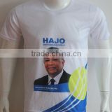 China factory direct Custom cheap polyester election campaign t shirt with face heat tranfer printing