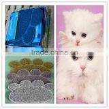 Small Quantity custom size custom design Cat litter mat different shapes kitty litter mat PVC coil cat litter mat