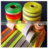 Custom heat transfer printed reflective tape for reflective safety vest for garment