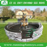 Inflatable mechanical bull with mattress, machine rodeo bull, inflatable mechanical bull