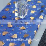 Latest Design Bronzing Organza Table Runner For Party Decoration