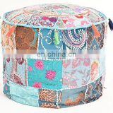 Indian Handmade Mughal Style Sitting Pouf