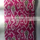 Beautiful pink multi color ikat paisley pattern handmade quilt 100 % cotton