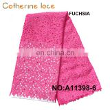 Catherine Free Sample Wedding French Laser Cut Lace Fabrics Factory In China