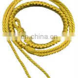 Yellow Silk Military Lanyard, String, PE Rope, Military Lanyard, Uniform Lanyard whistle cord