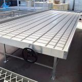 Ebb and flow greenhouse metal rolling benches for plants grow