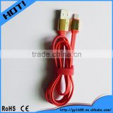 newest molding reversible usb micro cable with gold connector 1m                                                                         Quality Choice