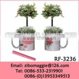 2016 Popular U Shape White Promotional Porcelain Flower Pots for Sale with Wholesale Price