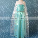 Summer Frozen Elsa Dress Frozen Princess Dress Children Kids Custom-Made Cosplay Dress Costumes 10pcs/lot