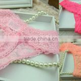 Wholesale Ladies Sexy Full Lace Thongs G-String Briefs Panties SIze S-L Top Quality 100pcs/Lot Free Shipping