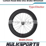 Top sell carbon bicycle accessory clincher road wheelset disc brake bike wheels 88mm