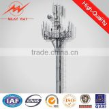 polygonal or conicla high voltage telescopic mast for antennas for transmission line
