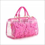 ladies transparent pvc handbag beach, high quality handbag