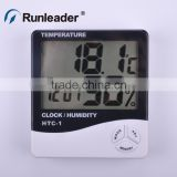 Desk Humidity meter indoor temmperature meter with electronic calender clock for indoor greenhouse bed room