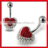 fashion navel belly ring banana body piercing jewelry