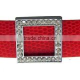 Square 18mm Rhinestone Slide Charms Wholesale, fits 18mm width Leather Bracelet