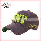 fashion colorful felt applique embroidery 6 panel baseball cap hat