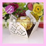 Hot Sale Laser Cut Pearl Paper Chocolate Box CB-3