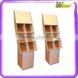 promotion advertising cardboard compartment tier floor standing display for children cotton underwear