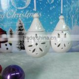 Porcelain xmas' ball hanger w/T-lite(home decoration,porcelain figure,christmas crsft)