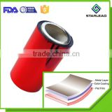 Lacquer Coated Metallized Polyester Film, Lacquered Colour Coated PET Packaging Grade Film
