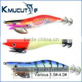 Chentilly Squid jig CHS011 Luminous squid jig fishing bait hard plastic body with cloth fishing lure