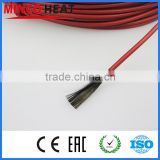 New infrared heating cable system of 3mm Silicone carbon fiber heating wire electric hotline