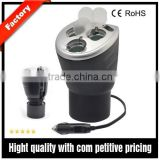 3 way 12V cigarette lighter sockets and a 2.1A USB port combination extension car power socket