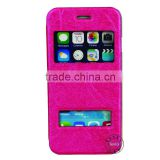 China Manufacturer Slim Stand Card Slots Leather Mobile Phone Flip Cover Case For iphone 6