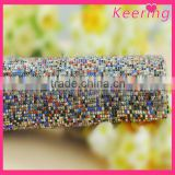 hot sale bling bling colorful hot fix rhinestone mesh for cloth WRT-011