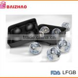 hot promotion new Custom Ice Ball Maker Mold/4 Whiskey Ice Ball/Round Spheres Tray Black New