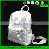 Stylish reusable backpack bag laser PU leather backpack                                                                         Quality Choice