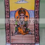 Lord Ganesha Tapestry Indian Holy Tapestries Cotton Religious Wall Hanging Decor Boho Art