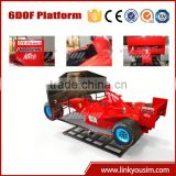 New Arrival move 6DOF fiberglass car body Racing F1 car simulator