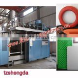 Extrusion blow moulding machine for life buoy ring desk panel