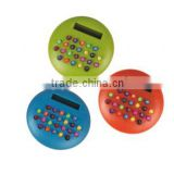 Round Shaped Color Keys 8 digits Small Promotional Gift Plastic Pocket Calculator