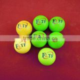 high quality two piece colorful bulk golf practice ball can oem logo