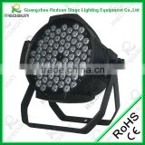 Professional Indoor and outdoor Hot selling For Disco and KTV Bright LED PAR Stage light RGBW 72PCS 3W LED Par Light