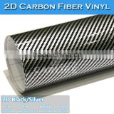 CARLIKE Black 2D Carbon Fiber Car Wrapping Vinyl Foil