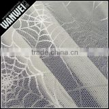 Smooth spider web new product elastic and bright nylon spandex lace fabric for different dress and skirts manufactur sellin 4024