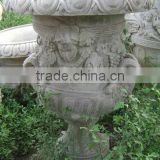 Living wall planter pot garden marble hand carved sculpture from Vietnam