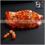 Fashion Original Color Agate Crystal Gemstone Tibet Buddhist Buddha Meditation 108 Prayer Bead Mala Bracelet/Necklace