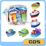 Cute boat shape spray water bath toys