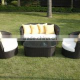 Singapore hot Black Wicker Rattan sectional sofa family events - patio garden outdoor sofa furniture
